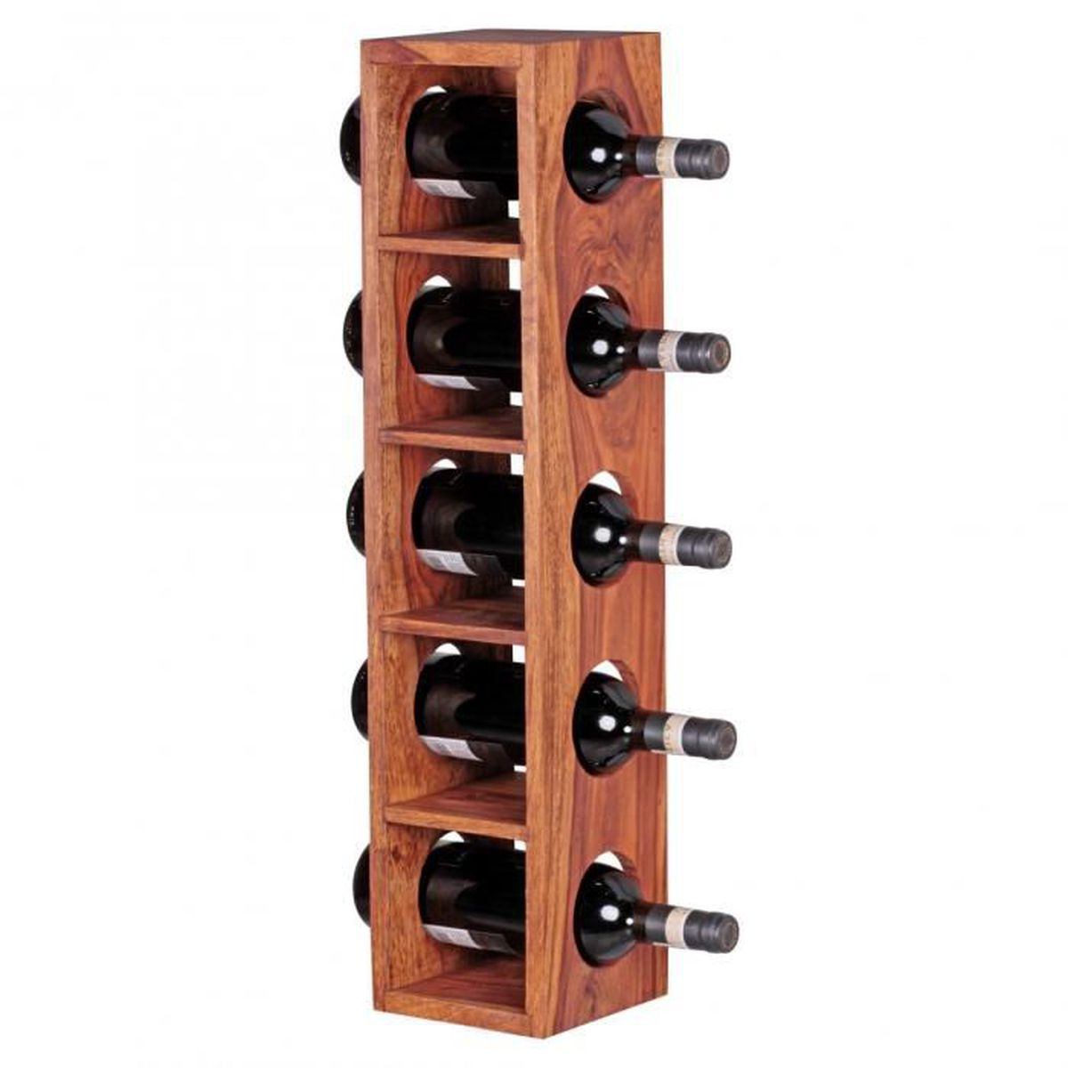 Support A Bouteille De Vin Mural casier à vin en bois massif pour 5 bouteilles avec support