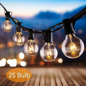 GUIRLANDE D'EXTÉRIEUR Guirlande lumineuse exterieur, 25 G40 ampoule 7.65