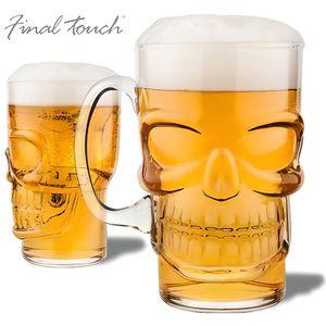 Verre à bière - Cidre Le verre à bière tête de mort shooter insolite rec