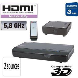 Récepteur audio TRANSMETTEUR EMETTEUR AUDIO VIDEO HDMI SANS FIL
