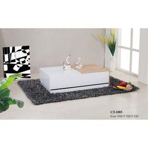 TABLE BASSE Table basse design blanc laqué