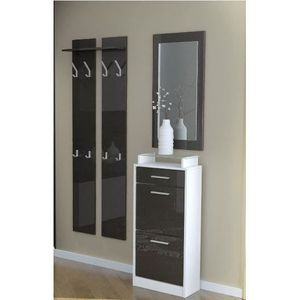 petit meuble d entree blanc achat vente petit meuble d entree blanc pas cher cdiscount. Black Bedroom Furniture Sets. Home Design Ideas