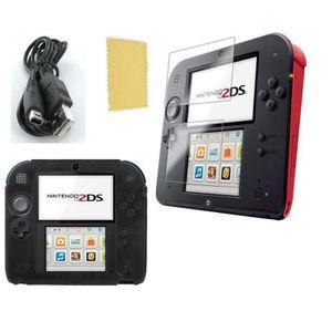 CONSOLE 2DS Pack 3 en 1 Nintendo 2DS : Housse silicone noir-Ch
