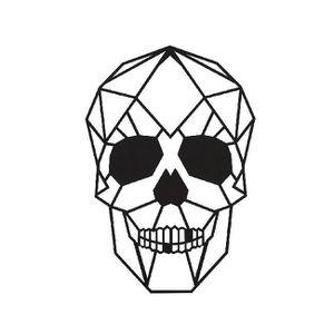 OBJET DÉCORATION MURALE Décoration Metallique Crâne, Couleur: Noir