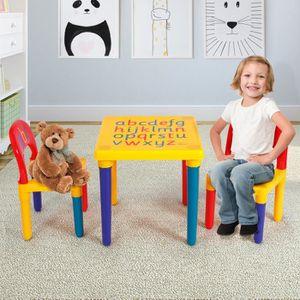 TABLE ET CHAISE COSTWAY Table et Chaises pour Enfant en Plastique