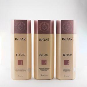 DÉFRISAGE - LISSAGE Inoar G Hair | Kit lissage brésilien | 3 x 1000 ml