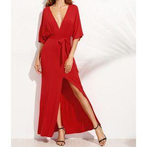 ROBE Maxi robe de soirée de cocktail longue col V profo