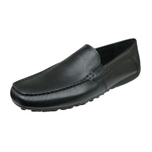 Geox Damon B hommes Cuir Moccasi... ZUZfZZH6m