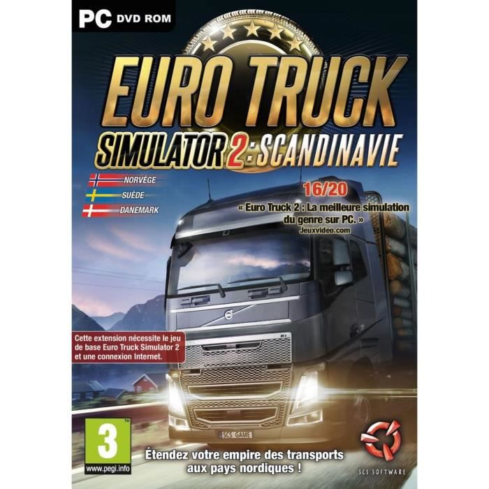 euro truck 2 simulator scandinavia jeu pc achat vente jeu pc euro truck 2 scandinavia pc. Black Bedroom Furniture Sets. Home Design Ideas