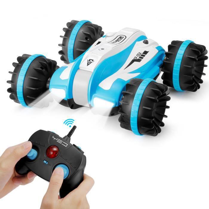 Voiture télécommandée,Voiture Jouet,Voiture Enfant YED 2.4GHz 6 canaux Amphibious Car 360 degrés Rotation Stunt Vehicle