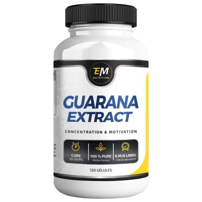 Guarana Gélules - Concentré 4X