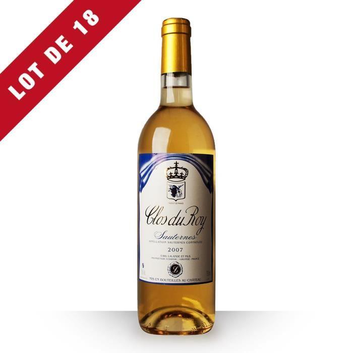 18X Clos du Roy 2007 Blanc 75cl AOC Sauternes - Vin Blanc