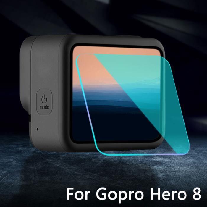 2PCS Pour Gopro Hero 8 Protection d'écran verre trempé