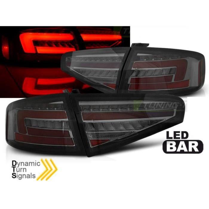 Paire de feux arriere Audi A4 B8 12-15 berline FULL LED Fume-34095038