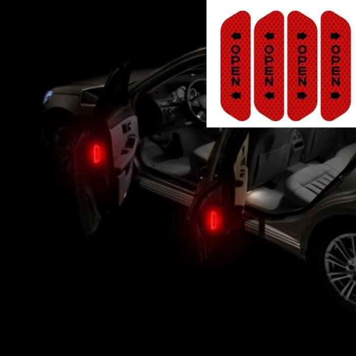 Autocollants réfléchissants pour Volkswagen Golf 4 6 7 GTI - Étiquette d'avertissement de sécurité, - Modèle: Rouge - ANQCCTA10315