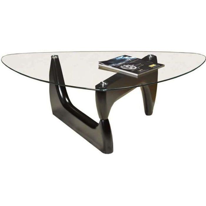 Table basse en verre FAST avec structure en fer NOIR