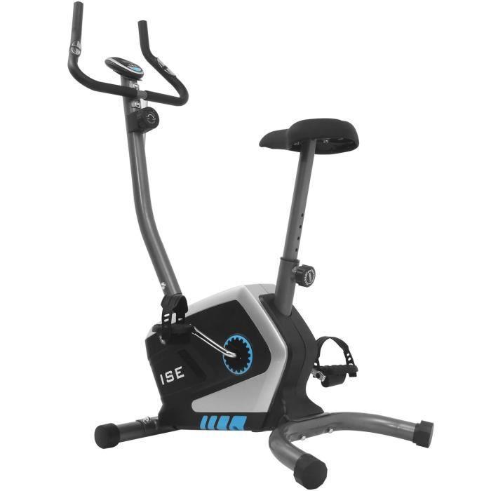 ISE Vélo d'Appartement Magnétique - 8 niveaux de résistance réglables - Inertie 8 kg - Capteurs d'impulsion