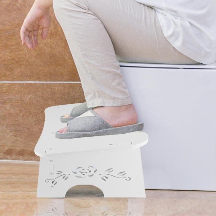 AYNEFY Tabouret de toilette PVC salle de bain toilette aide étape pied chaise étape pied tabouret petit escabeau salle de bain