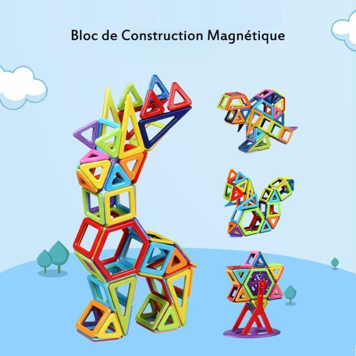 108Pièces Bloc de Construction Magnétique pour Enfant Plus de 3ans, Jeux Construction Aimanté Jouet Educatif et Créatif, Cadeau Fête