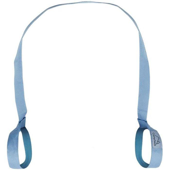 CampTeck Sangle Tapis Yoga Réglable Transport Exercices Pilates Aerobic Sports Outdoor - Bleu 180cm x 3.8cm