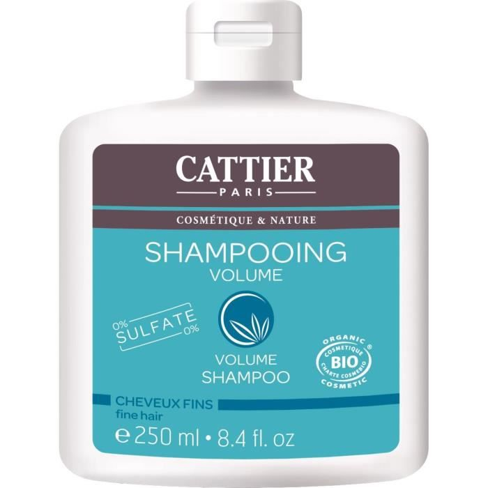 CATTIER Shampooing Sans Sulfates Volume Bio 250 ml