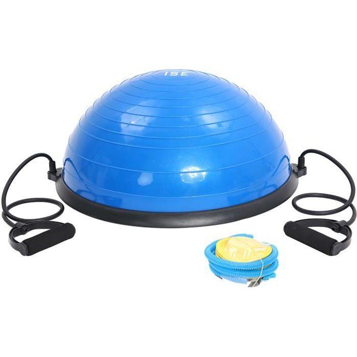 ISE Balance trainer Multifonctionnel, Ø 62 cm,Ballon d'équilibre Exercice de Gym,avec Câbles de Resistance et Pompe