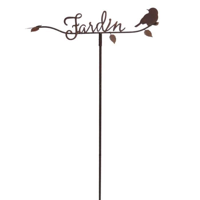Tuteur jardin écriture romantique 56x06x122cm 56 cm