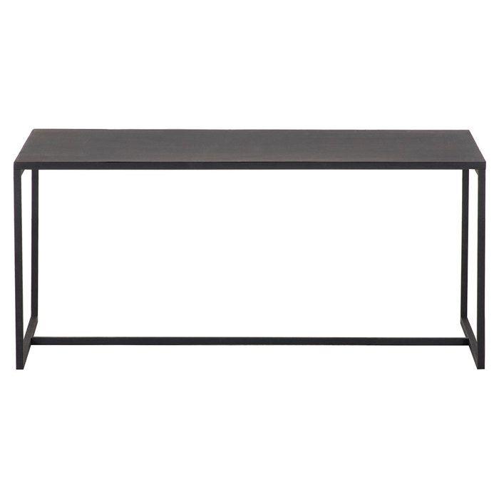 Miliboo - Table basse industrielle métal noir KARL