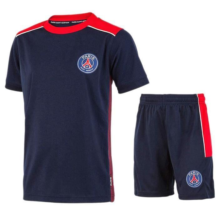 PSG - Maillot & Short de Football Enfant Officiels - Bleu