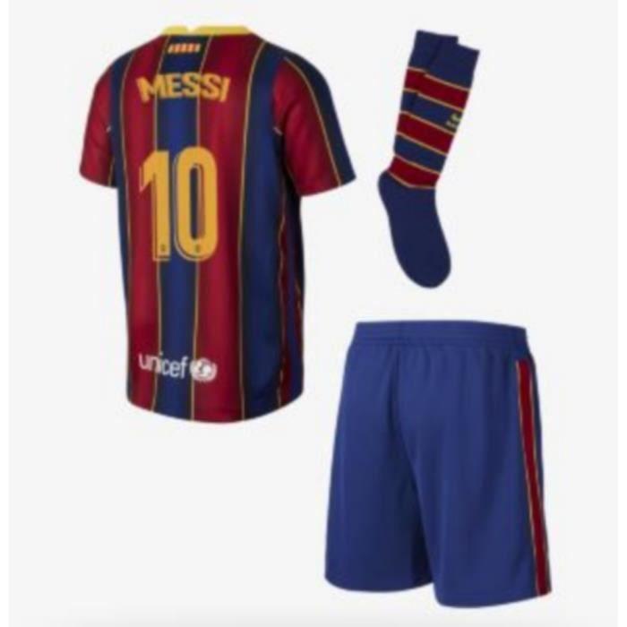 Mini-Kit Officiel Nike FC Barcelone Domicile Flocage Messi Numéro 10 Saison 2020-2021