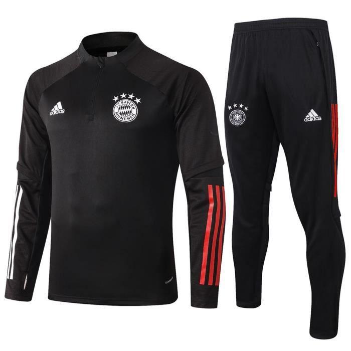 Maillot de Foot Bayern Munich - Maillot Foot Enfants Garçon Homme 2020 - 2021 Survêtements Foot Maillot de Foot(Haut + Pantalon)
