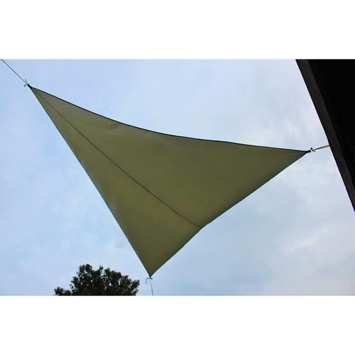Toile Voiles D'ombrage Triangulaire 4x4x4m Imperméable et Résistante pour Jardin Terrasse