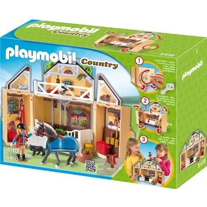 PLAYMOBIL COUNTRY 5418 - JEU DE CONSTRUCTION - …