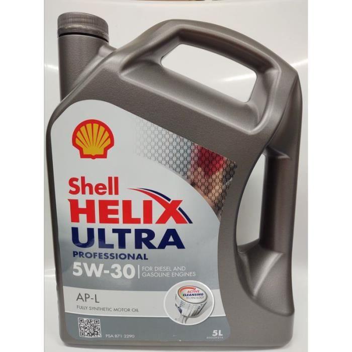 Shell Helix Ultra Professionnel APL 5W30 5L Huile Moteur Essence et Diesel