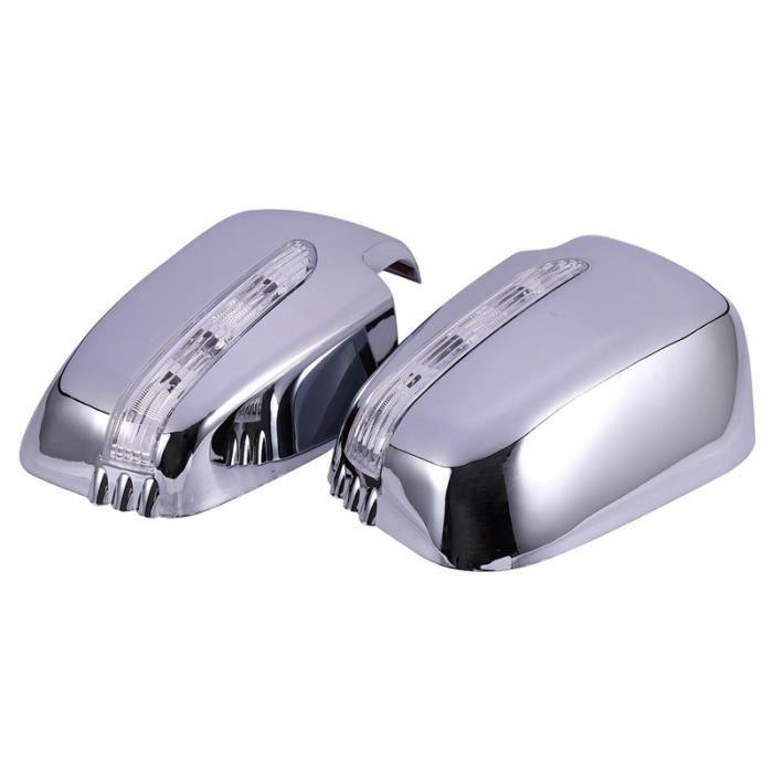 Housses de RéTroviseur de Porte de Voiture avec LED pour Mitsubishi Triton L200 2005-2014 Pajero Sport 2011