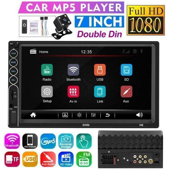 HG37983-AUTORADIO 7-Pouces 2 Din Écran tactile HD Lecture de Voiture Stéréo bluetooth GPS NAV MP5 FM USB L54298