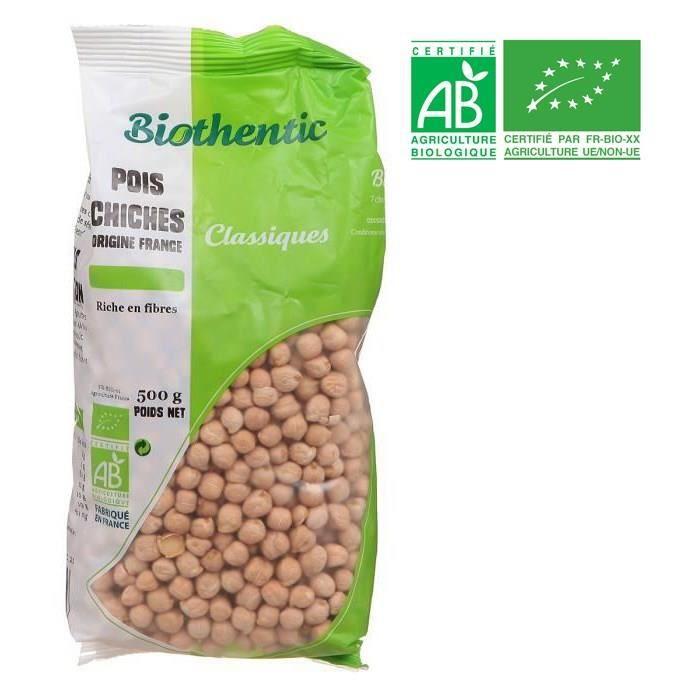 Pois chiches bio 500 g Biothentic