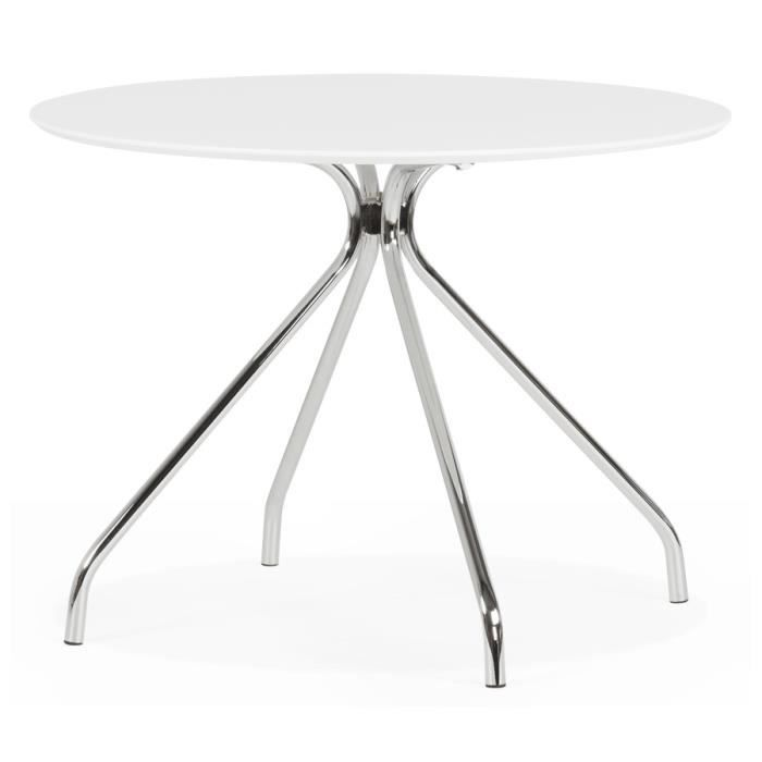 Table cuisine ronde blanche finest table cuisine blanche for Table de cuisine ronde blanche