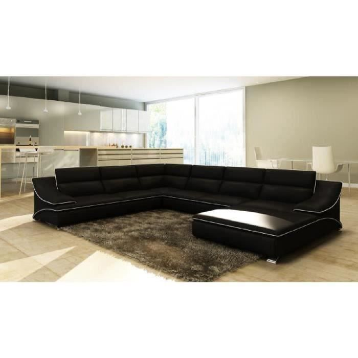 salon panoramique cuir achat vente pas cher. Black Bedroom Furniture Sets. Home Design Ideas