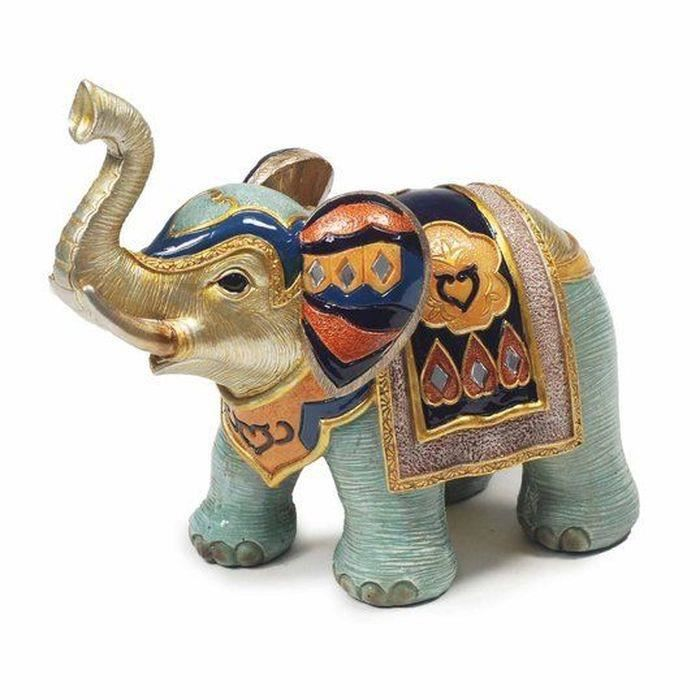 elephant dor neuf statuette 17cm deco design porte bonheur achat vente statue statuette. Black Bedroom Furniture Sets. Home Design Ideas