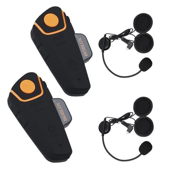 Casque Bluetooth BT-S2 1000M pour Moto Intercom Casque Bluetooth pour Moto Interphone Id/éal pour la Pratique du Ski et de la Glisse c/âble Souple, 1 Paquet