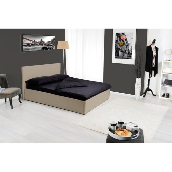 cordoue est sans doute fait pour vous ce lit coffre est tout fait dans l 39 re du temps tout en. Black Bedroom Furniture Sets. Home Design Ideas