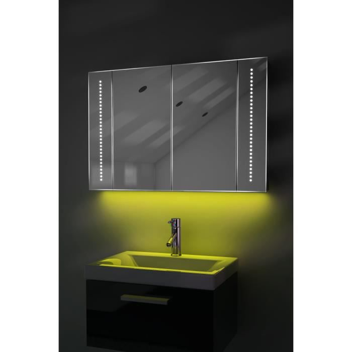 armoire de toilette audio avec bluetooth prise rasoir capteur k71yaud jaune taille l 600mm x. Black Bedroom Furniture Sets. Home Design Ideas