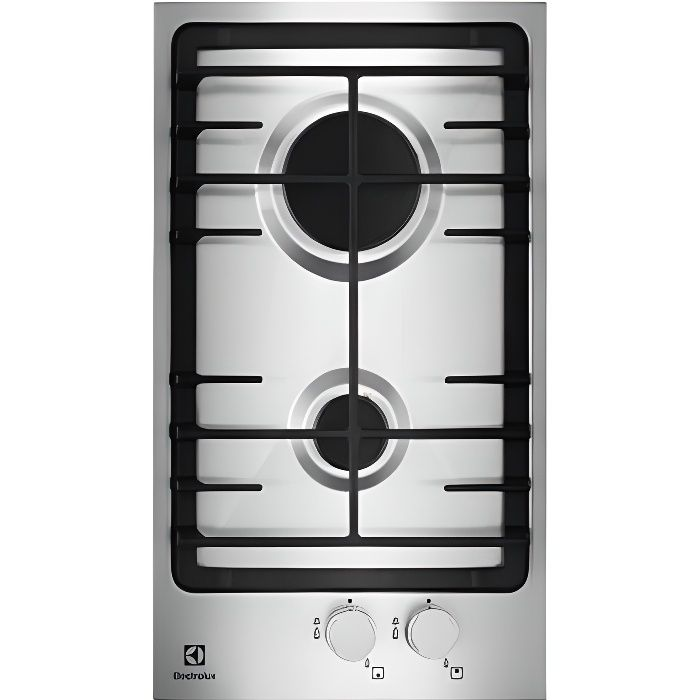 Table de cuisson domino gaz electrolux egg3322nvx achat - Table cuisson mixte gaz induction grande largeur ...