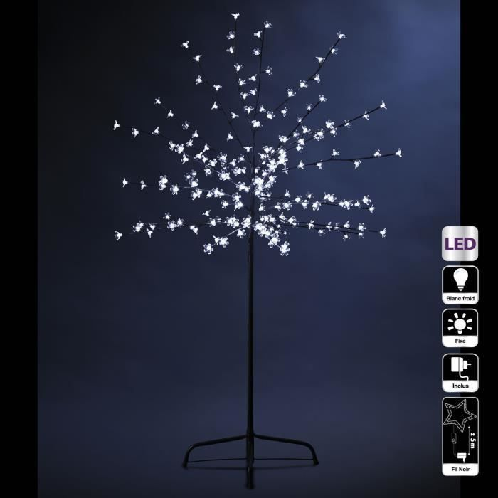 arbre lumineux a led blanc achat vente arbre lumineux a led blanc pas cher cdiscount. Black Bedroom Furniture Sets. Home Design Ideas