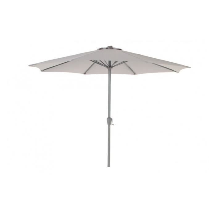 parasol fidji rond 3m hesperide gris clair achat vente parasol parasol fidji rond 3m gris. Black Bedroom Furniture Sets. Home Design Ideas