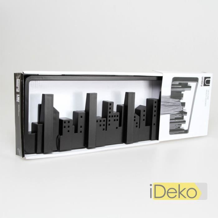 ideko porte manteaux mural en plastique d poli design minimalism centre ville support mural. Black Bedroom Furniture Sets. Home Design Ideas
