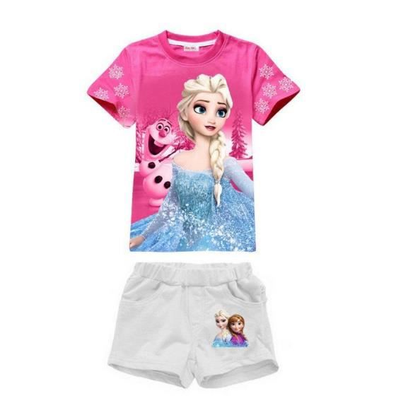 ensemble t shirt short reine des neiges 2 au 6 rose achat vente ensemble de v tements. Black Bedroom Furniture Sets. Home Design Ideas