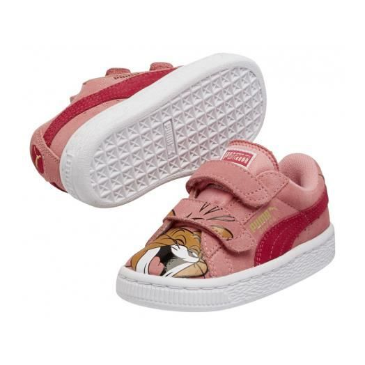 basket enfant puma rose