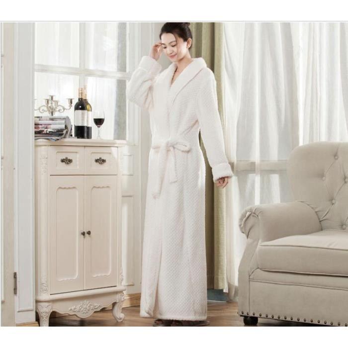 FindDress Chaud et Doux Luxe Tissu Eponge Peignoir de Bain, Souple Robe de  Chambre Femme et Homme Hiver Automne Confort Microfibre